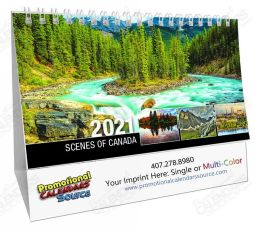 Scenes Of Canada Desk Tent Calendar English, 2019