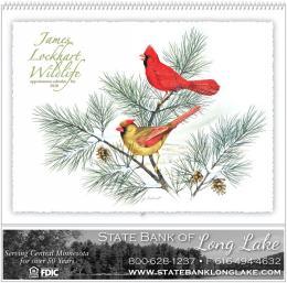 James Lockhart Wildlife Art Calendar, Spiral