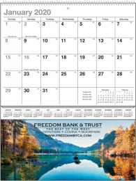 Nature Majesty Scenic Single Pocket Wall Calendar