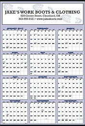 Large Year-In-View Planner Calendar 27