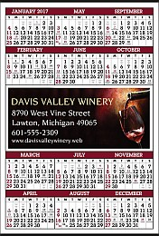 Year-At-Glance Calendar with Ad Copy Printed Full-Color - Size 22x34