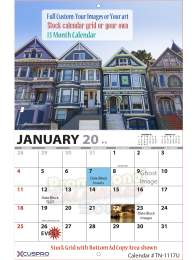 13 Months Fully Custom Wall Calendar, Stapled, 11x17, Full-Color Imprint, Your Images, Your Art