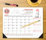 4 Color process desk pad promotional calendar