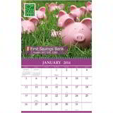 Custom Single Image Calendar with Tear-off Grid
