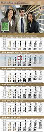 6-Month View Custom Promotional Calendar 12x36, 2-Panel construction