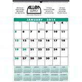 Custom 12-month Contractor Style Calendar 17 x 24