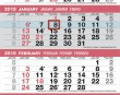 4 Month View Calendar Item UG-644 month grid details with week numbers
